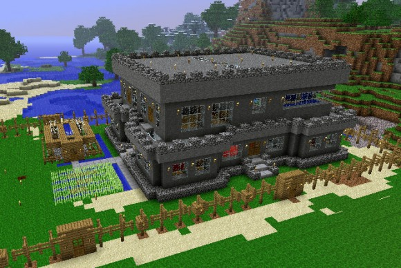 Красивый дом в майнкрафт фото схема постройки